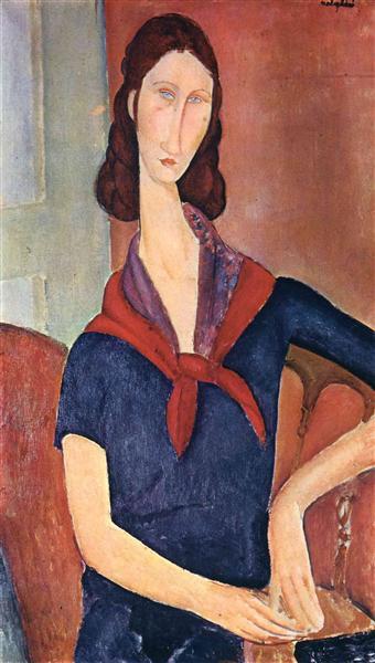 Jeanne Hebuterne (with a scarf), 1919 - Amedeo Modigliani