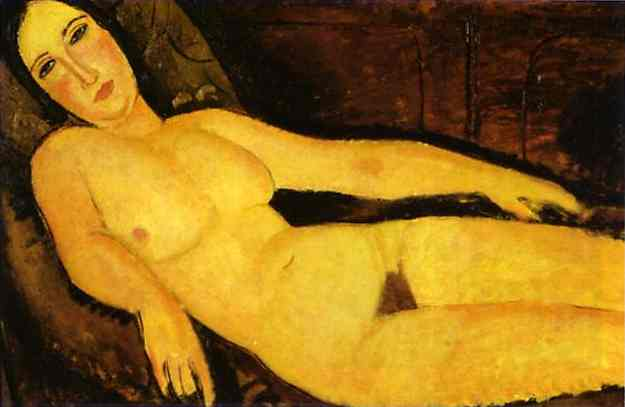 Nude on sofa, 1918 - Amedeo Modigliani