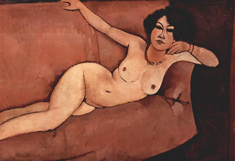 Nude on sofa (Almaisa), 1916 - Amedeo Modigliani
