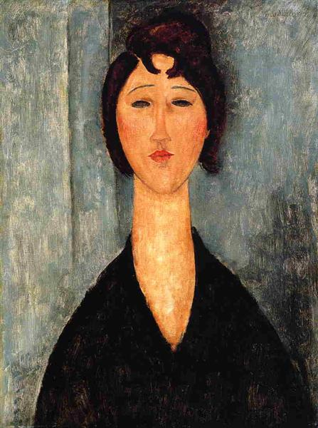 Portrait of a Young Woman, c.1918 - Amedeo Modigliani