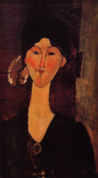 Portrait of Beatrice Hastings, 1915 - Амедео Модільяні