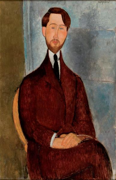 Portrait of Leopold Zborowski, 1917 - Amedeo Modigliani