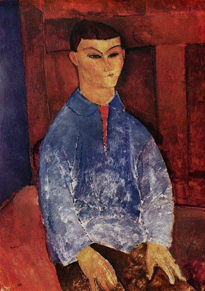 Portrait of Moise Kisling, c.1915 - Amedeo Modigliani