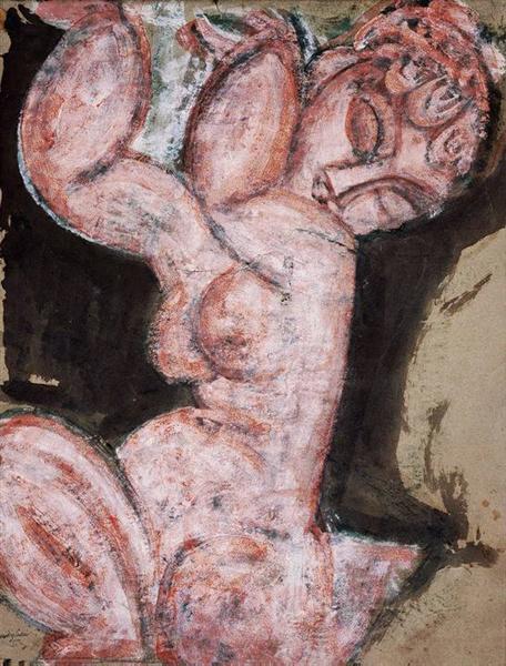 Nude Caryatid, 1913 - Amedeo Modigliani
