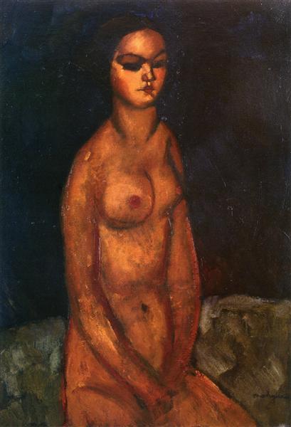 Seated nude, 1908 - Amedeo Modigliani