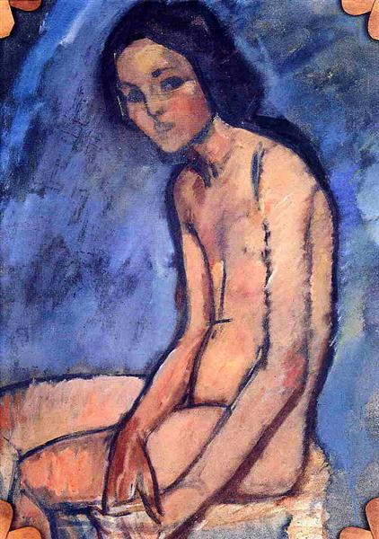 Seated nude, 1909 - Amedeo Modigliani