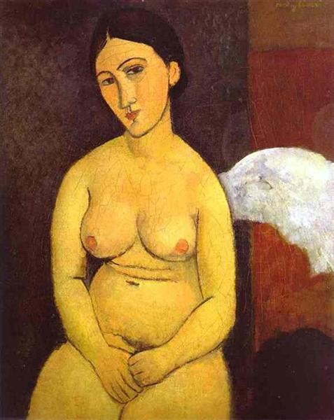 Seated nude, 1917 - Amedeo Modigliani