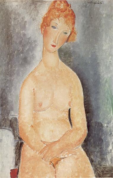 Seated nude, 1918 - Amedeo Modigliani