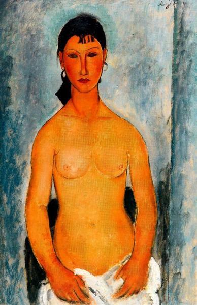 Standing nude (Elvira), 1918 - Amedeo Modigliani