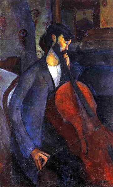 The Cellist, 1909 - Amedeo Modigliani