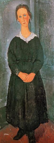 The Servant Girl, c.1918 - Amedeo Modigliani