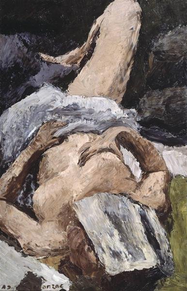 Nude with a Newspaper, 1921 - Андре Дюнуайє де Сегонзак