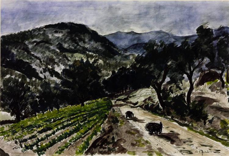 The Road from Grimaud, 1937 - Andre Dunoyer de Segonzac