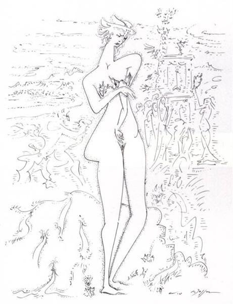 The bird market, 1970 - Андре Массон