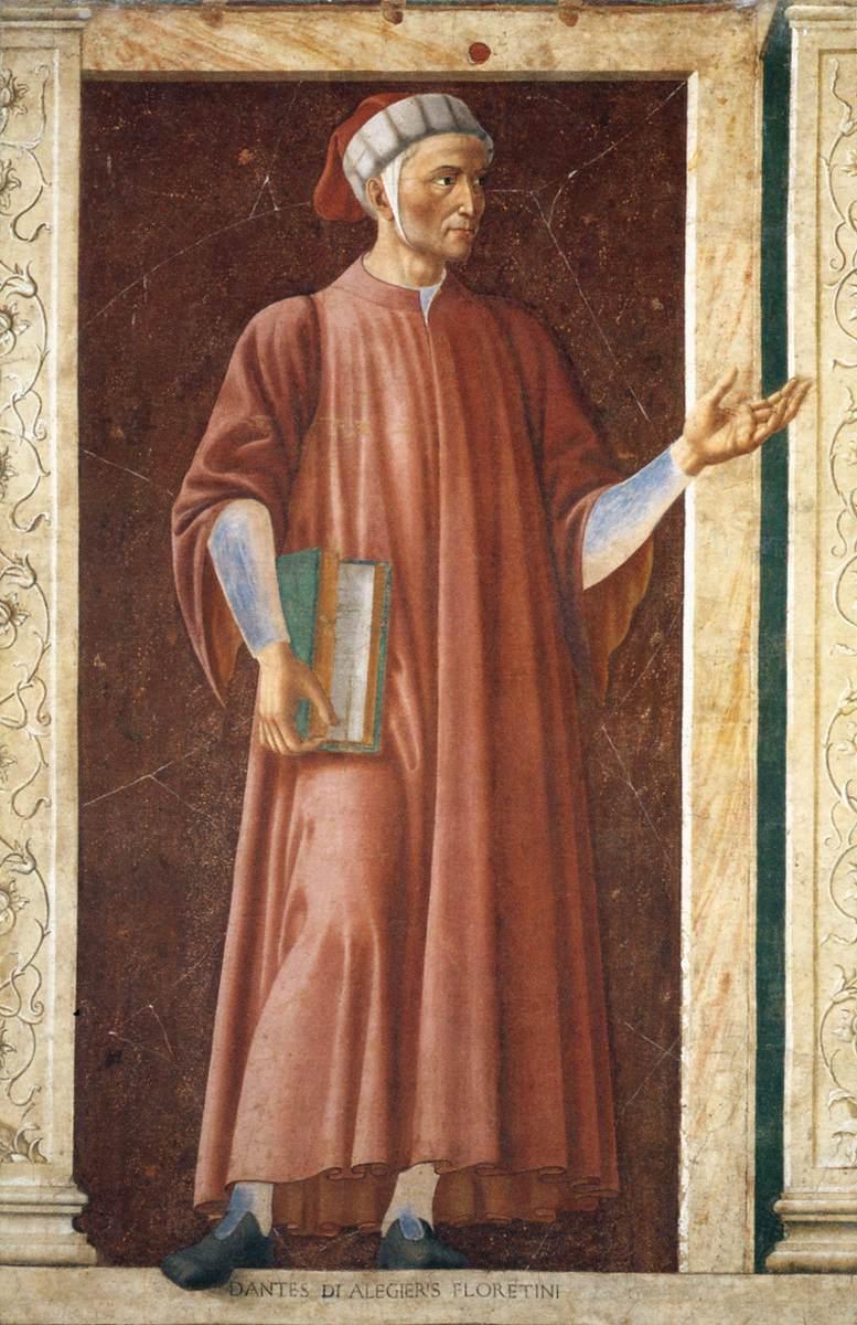Andrea Del Castagno Dante Portrait Dante Alighieri Andrea Del