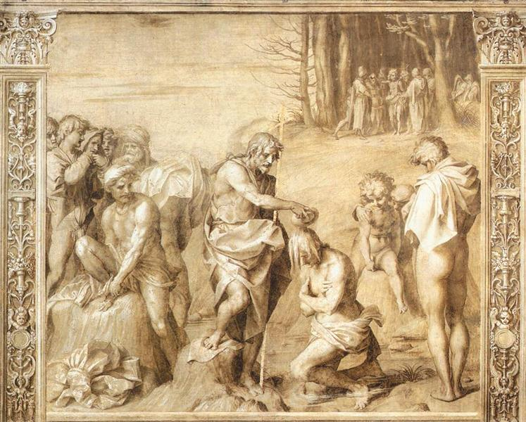 Baptism of the People, 1515 - 1517 - Andrea del Sarto