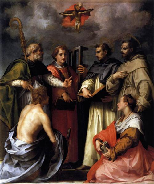 Disputation on the Trinity, 1517 - Andrea del Sarto