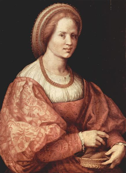 Portrait of a Lady with Spindle Cup, 1516 - Andrea del Sarto