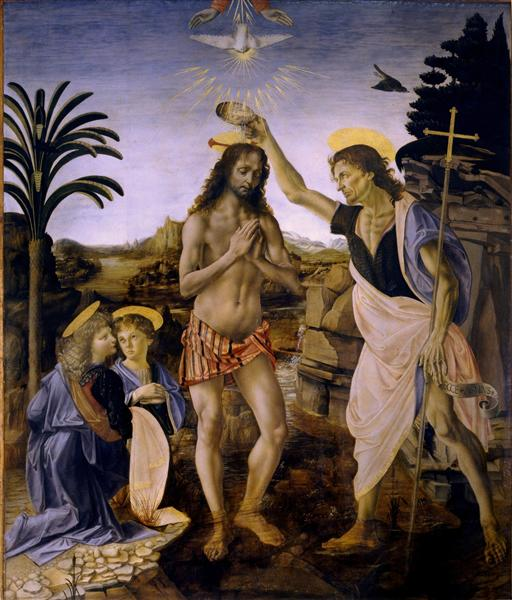 The Baptism of Christ - Andrea del Verrocchio