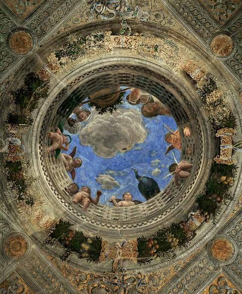 Ceiling of the Camera Picta or Camera degli Sposi, 1470 - Andrea Mantegna