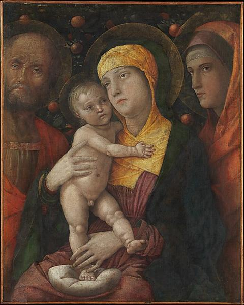 The Holy Family with Saint Mary Magdalen, c.1495 - c.1500 - Andrea Mantegna