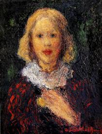 Niña se cuello blanco (Mady Pigault de Beaupré) - Andres de Santa Maria