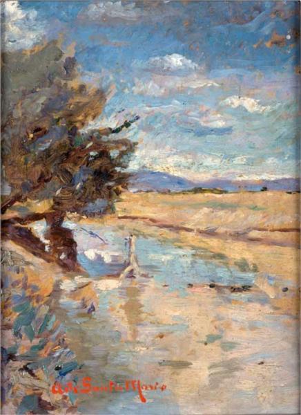 Paisaje, 1894 - Andres de Santa Maria