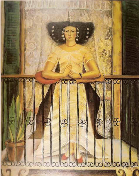 Mulher do Pará (no balcão), 1927 - Anita Malfatti