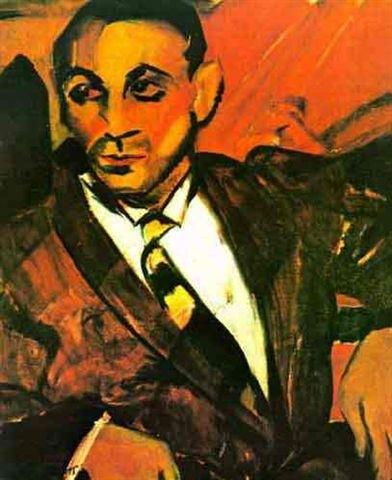 O homem amarelo, 1917 - Anita Malfatti