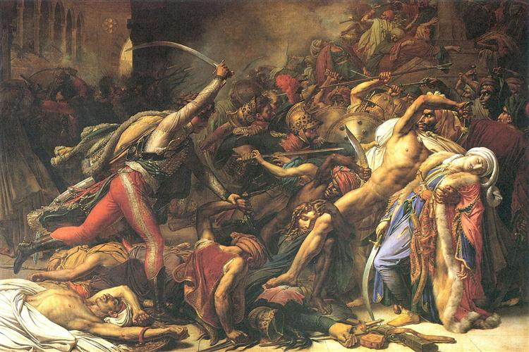 Revolt in Cairo (on) 21 October 1798 - Anne-Louis Girodet