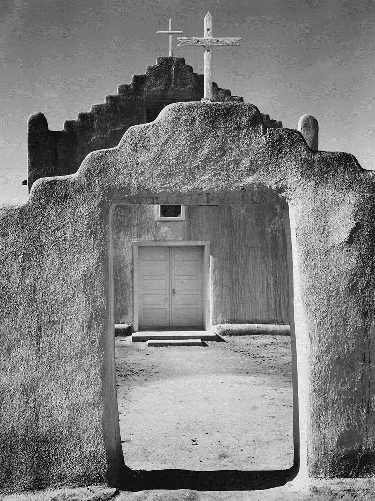 Church, Taos Pueblo, 1942