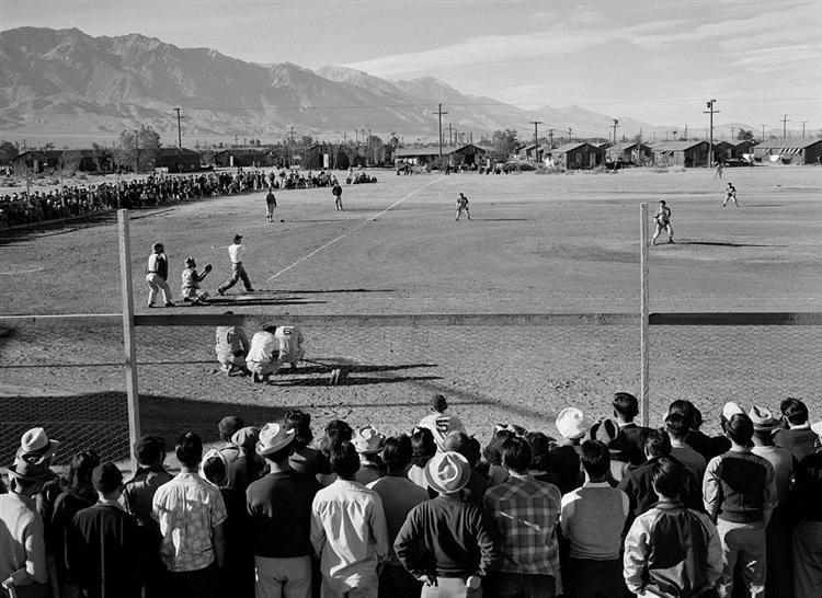 Manzanar Baseball - Ansel Adams