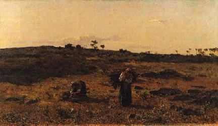 Charneca de Belas ao Pôr-do-Sol, 1879 - António de Carvalho da Silva Porto