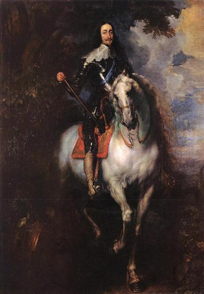 Equestrian Portrait of Charles I, King of England, 1635 - 1640 - Anton van Dyck