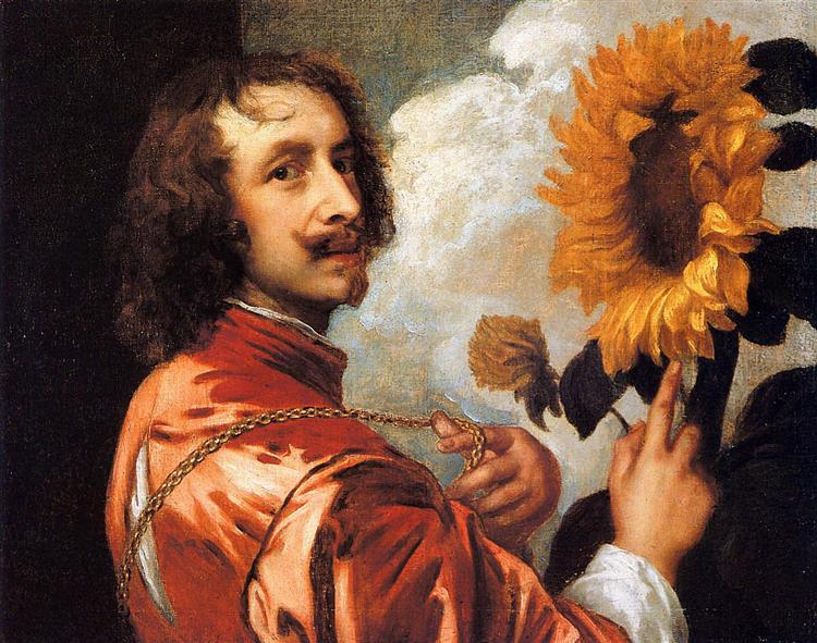 Self portrait with a Sunflower, 1632 - Anthony van Dyck