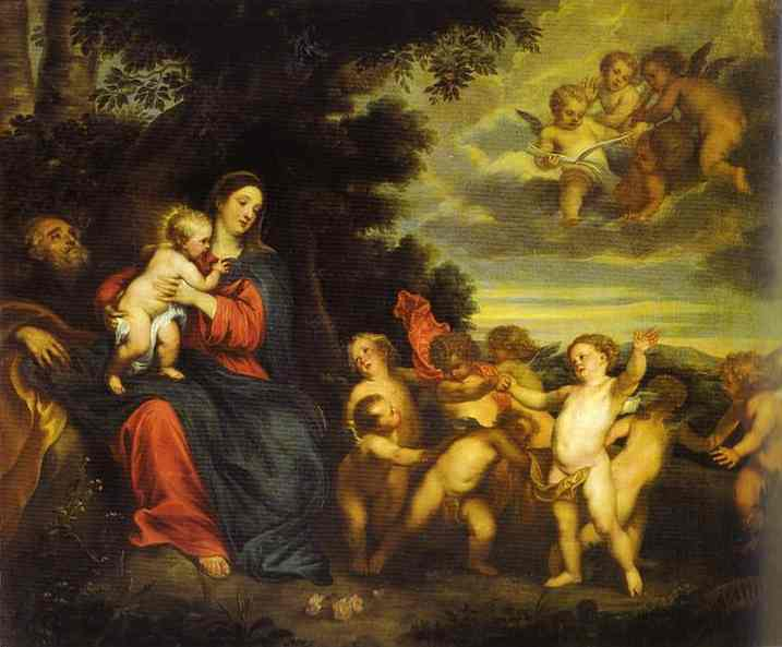 The Rest on the Flight to Egypt, 1630 - Anton van Dyck