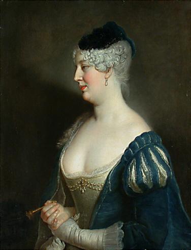 Portrait of Henriette von Zerbsten, 1726 - Antoine Pesne