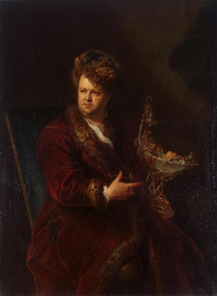 Portrait of Johann Melchior Dinglinger, c.1721 - Antoine Pesne