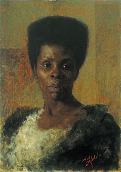 Zamorka (Black Girl), 1895 - Anton Azbe
