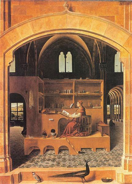 San Jerónimo en su estudio, c.1475 - Antonello da Messina