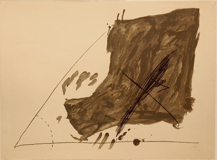 Angle et taches, 1968 - Antoni Tapies