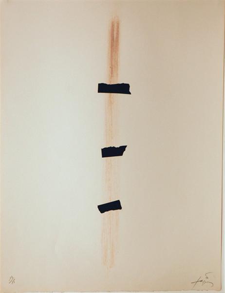 Les Trois Noirs, 1976 - Antoni Tapies