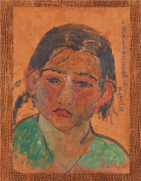 Fanciulla con la bocca rossa, 1953 - Antonietta Raphael