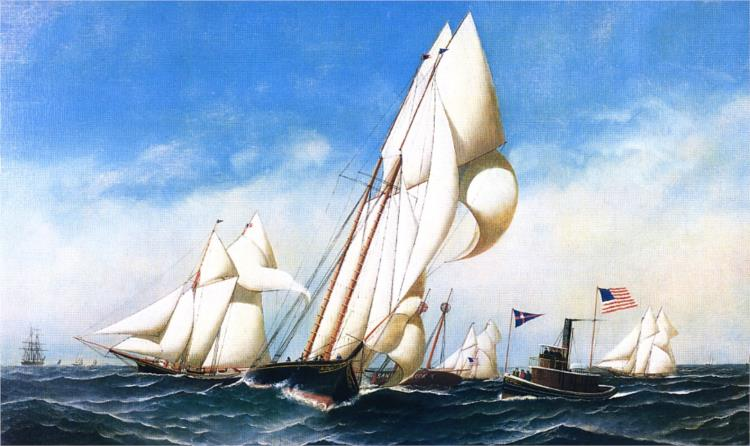 Rounding the Mark, NYCC Regatta, 1886 - Antonio Jacobsen