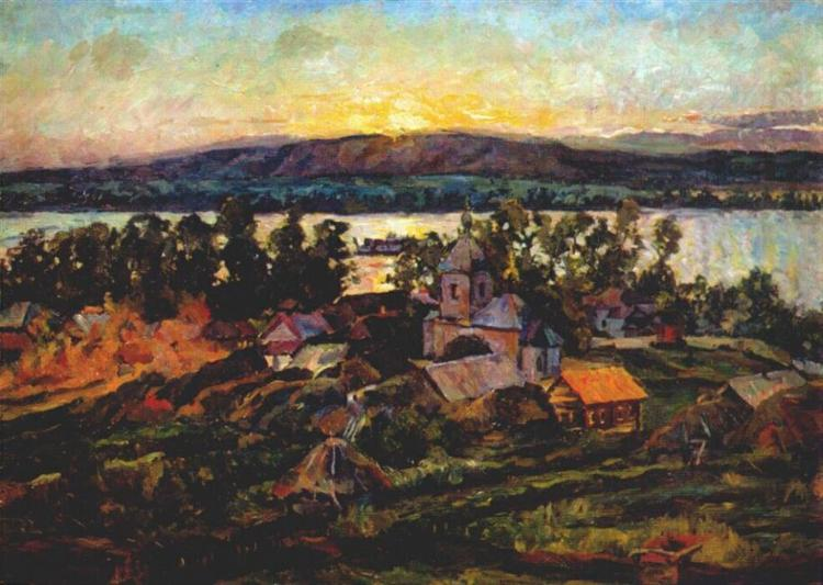 Sunset on the Volga, 1928 - Aristarkh Lentulov