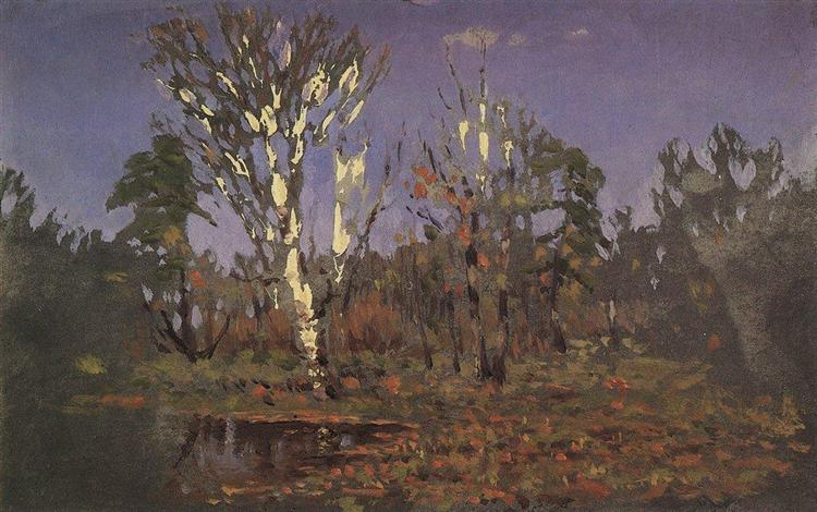 A grove with birch, c.1890 - Arkhip Kuindzhi