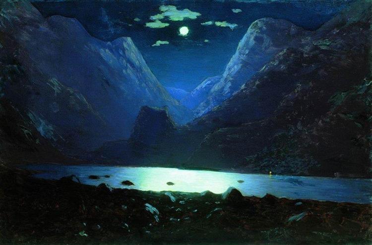Daryal pass. Moonlight Night, c.1895 - Arkhip Kuindzhi