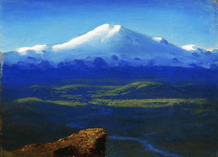 Snow tops, c.1895 - Arkhip Kuindzhi