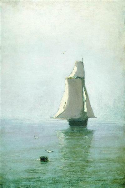 The Sea with a Sailing Ship - Arkhip Kuindzhi