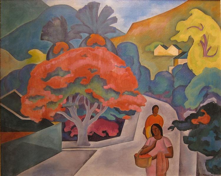 Coral Tree by Black Point, Honolulu, O'ahu, 1930 - Arman Manookian